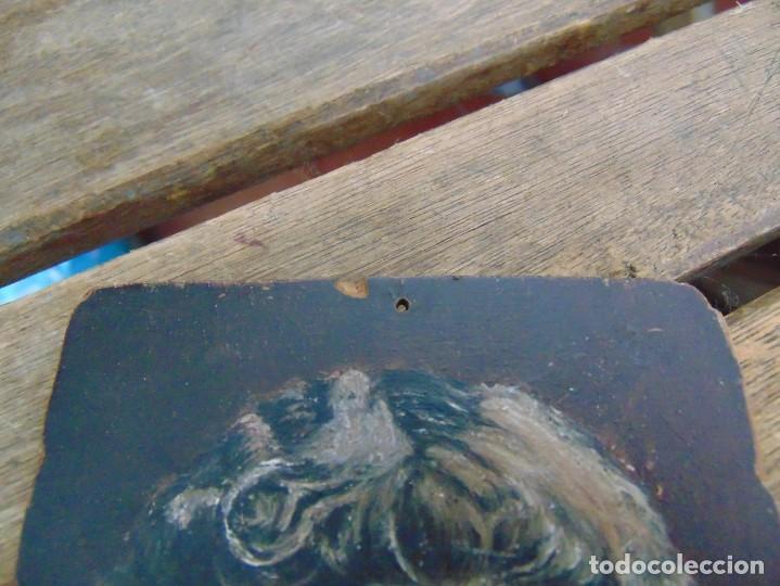 Arte: ANTIGUA Y PEQUEÑA, PINTURA OLEO SOBRE TABLE MADERA SAN JUANITO ?? FIRMADO CASTILLO - Foto 2 - 226341270