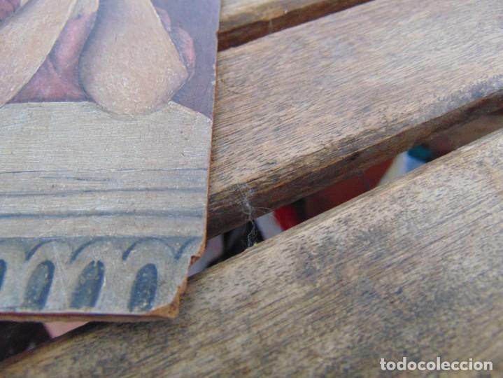 Arte: ANTIGUA Y PEQUEÑA, PINTURA OLEO SOBRE TABLE MADERA SAN JUANITO ?? FIRMADO CASTILLO - Foto 7 - 226341270