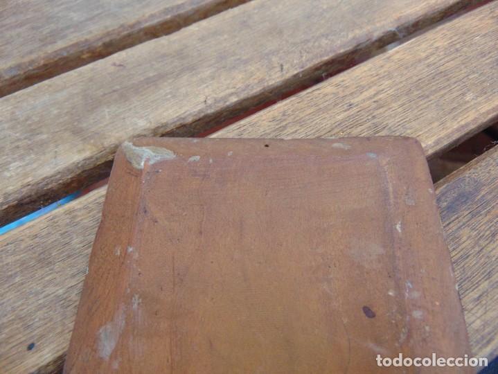 Arte: ANTIGUA Y PEQUEÑA, PINTURA OLEO SOBRE TABLE MADERA SAN JUANITO ?? FIRMADO CASTILLO - Foto 9 - 226341270