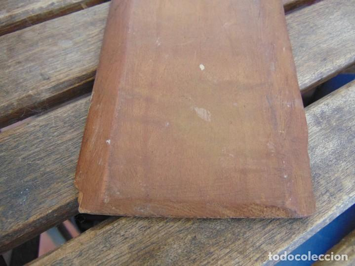 Arte: ANTIGUA Y PEQUEÑA, PINTURA OLEO SOBRE TABLE MADERA SAN JUANITO ?? FIRMADO CASTILLO - Foto 10 - 226341270