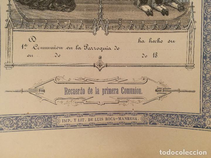 Arte: RECUERDO DE LA 1ª COMUNIÓN. S.XIX. - Foto 2 - 226473090