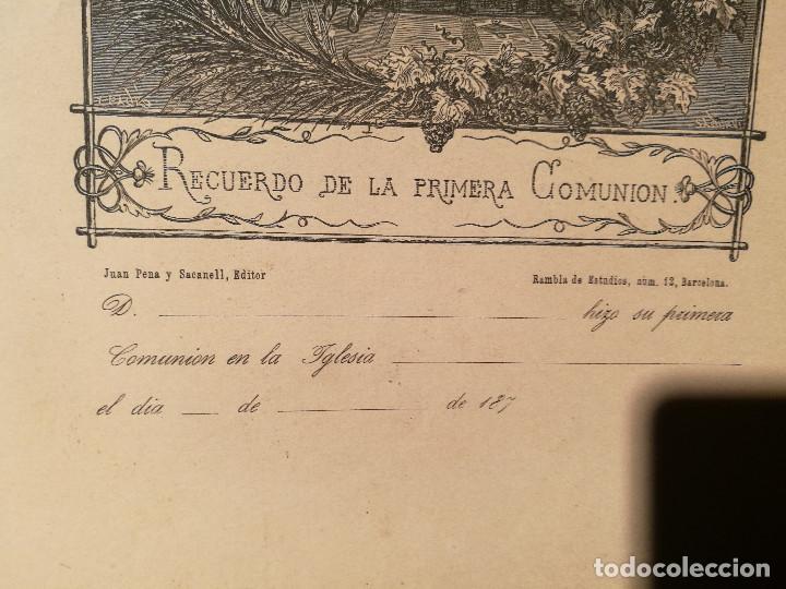 Arte: RECUERDO DE LA 1ª COMUNIÓN. CIRCA 1875. - Foto 3 - 226473935