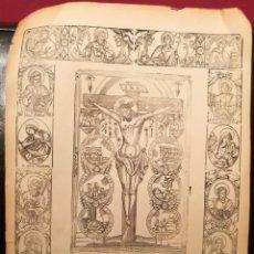 Arte: MILAGROSA IMAGEN DEL SANTO CRISTO. S.XIX.. Lote 226477899