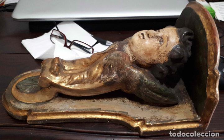 Arte: Peana policromada dorada al oro fino. Del XVIII - Foto 2 - 226631730