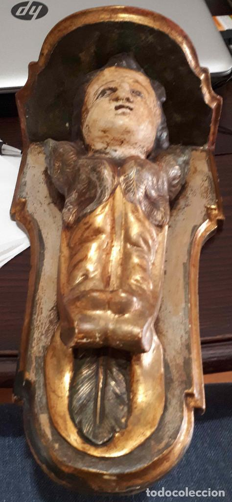 Arte: Peana policromada dorada al oro fino. Del XVIII - Foto 3 - 226631730