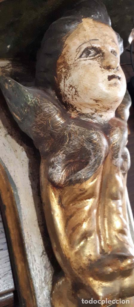 Arte: Peana policromada dorada al oro fino. Del XVIII - Foto 4 - 226631730