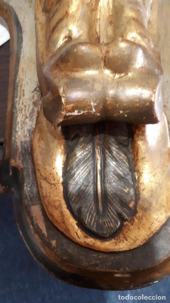 Arte: Peana policromada dorada al oro fino. Del XVIII - Foto 6 - 226631730