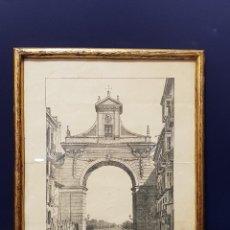 Arte: ARCO QUE EXISTIÓ EN LA ENTRADA DE VALLADOLID POR LA CALLE SANTIAGO HASTA 1864. LIT. DE CRUZ.. Lote 226677915