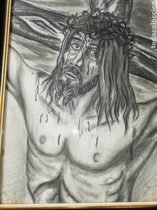 Arte: Dibujo al carboncillo gran tamaño..pintor y escultor Francisco Viña. - Foto 2 - 226686235