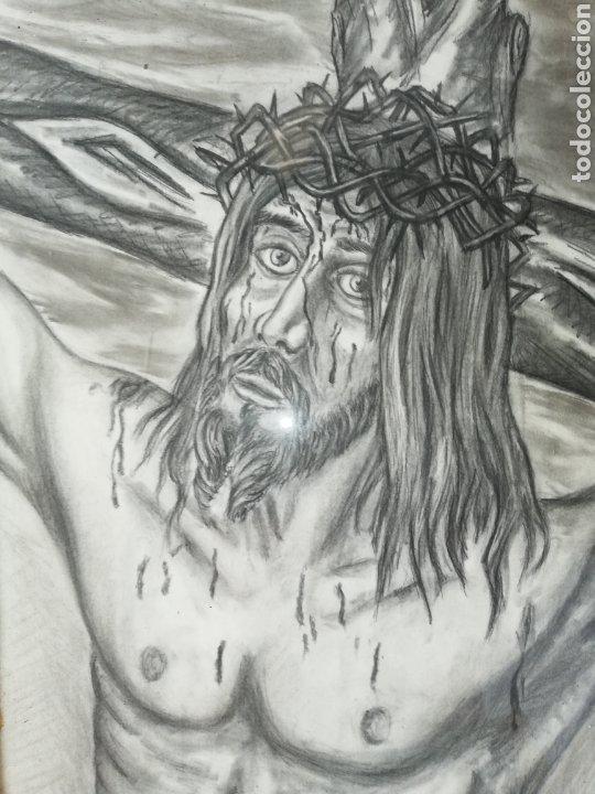 Arte: Dibujo al carboncillo gran tamaño..pintor y escultor Francisco Viña. - Foto 3 - 226686235