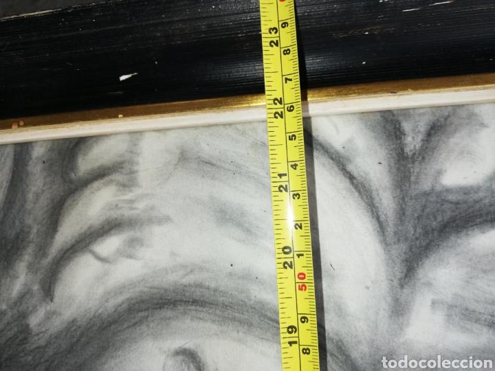 Arte: Dibujo al carboncillo gran tamaño..pintor y escultor Francisco Viña. - Foto 5 - 226686235