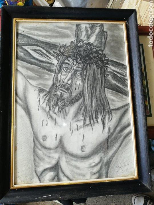 DIBUJO AL CARBONCILLO GRAN TAMAÑO..PINTOR Y ESCULTOR FRANCISCO VIÑA. (Arte - Arte Religioso - Pintura Religiosa - Otros)