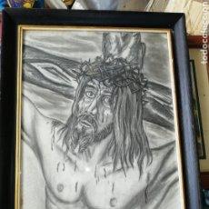 Arte: DIBUJO AL CARBONCILLO GRAN TAMAÑO..PINTOR Y ESCULTOR FRANCISCO VIÑA.. Lote 226686235