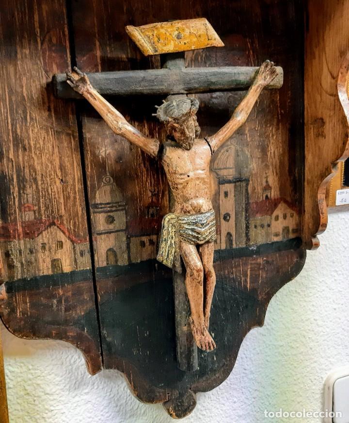 CRISTO MADERA POLICROMADA (Arte - Arte Religioso - Escultura)