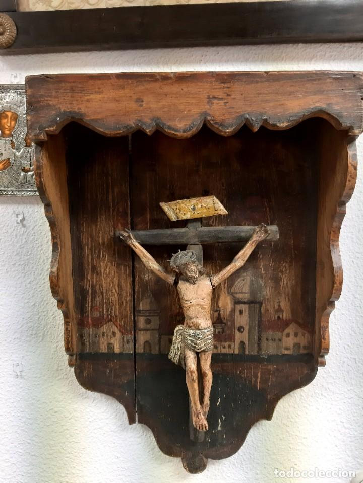 Arte: Cristo madera policromada - Foto 2 - 226807290