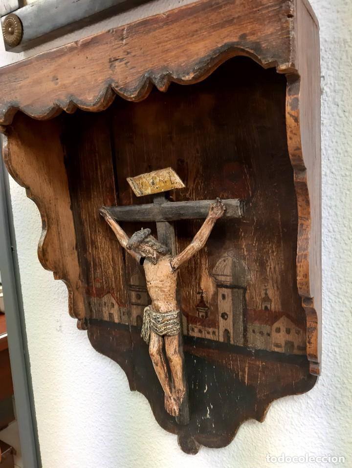 Arte: Cristo madera policromada - Foto 3 - 226807290