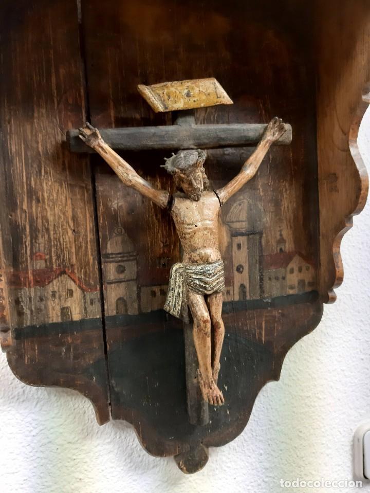 Arte: Cristo madera policromada - Foto 4 - 226807290