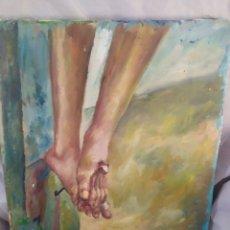 Arte: EN LOS PIES DE JESUCRISTO (ORIGINAL). Lote 226815650