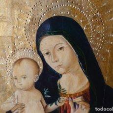 Arte: OLEO SOBRE TABLA LA VIRGEN CON EL NIÑO EPOCA QUATTROCENTO 85X70CM. Lote 226837295