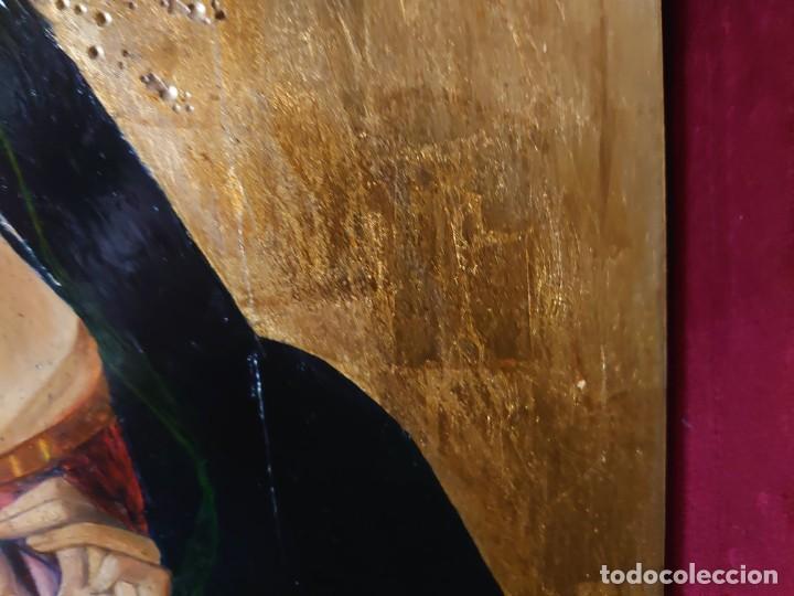 Arte: OLEO SOBRE TABLA LA VIRGEN CON EL NIÑO EPOCA QUATTROCENTO 85X70CM - Foto 5 - 226837295