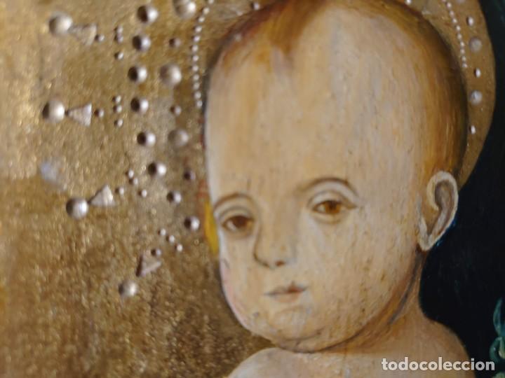 Arte: OLEO SOBRE TABLA LA VIRGEN CON EL NIÑO EPOCA QUATTROCENTO 85X70CM - Foto 8 - 226837295