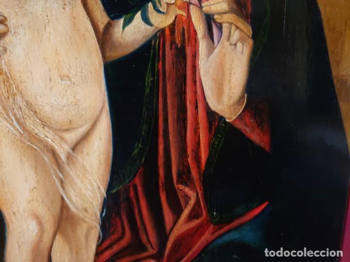 Arte: OLEO SOBRE TABLA LA VIRGEN CON EL NIÑO EPOCA QUATTROCENTO 85X70CM - Foto 16 - 226837295