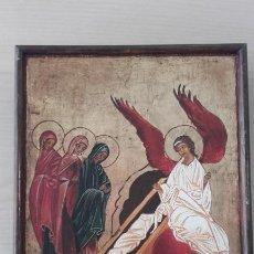 Arte: ICONO ANUNCIO DE LA RESURRECCIÓN. Lote 252565670