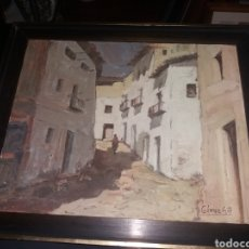 Arte: OLEO LIENZO GOMEZ GIL CALLE DE PUEBLO RURAL ANDALUCIA ? 47 X 40 CM. Lote 226851180