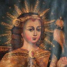 Arte: PRECIOSO CUZQUEÑO - LA NIÑA HILANDERA - RÉPLICA CONTEMPORÁNEA - SELLO EN LA PARTE TRASERA - CUSQUEÑO. Lote 226851850