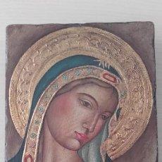 Art: ICONO / MADONNA GÓTICA / ORIGINAL. Lote 226855935