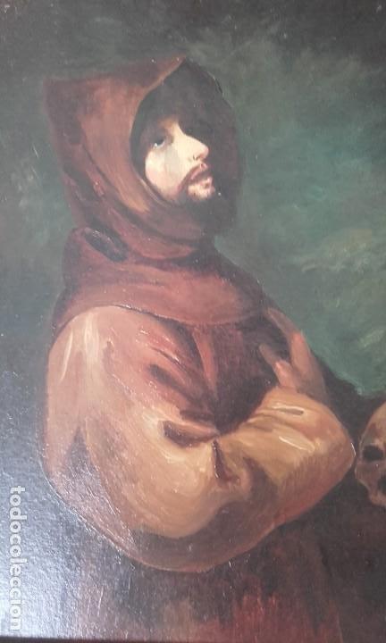 SAN FRANCISCO DE ASÍS / COPIA DE ZURBARÁN / ÓLEO (Arte - Arte Religioso - Pintura Religiosa - Oleo)