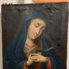 Arte: VIRGEN DOLOROSA MATER DOLOROSA OLEO SOBRE LIENZO S.XVIII. Lote 227044870