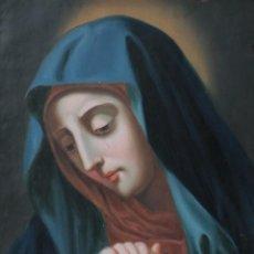 Arte: DOLOROSA. ÓLEO SOBRE COBRE DE LA ESCUELA COLONIAL. MIDE 34 X 28 CM. SIGLO XVIII,. Lote 227094450