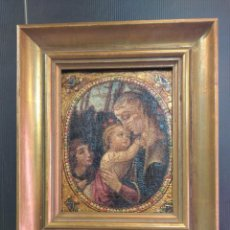 Arte: ANTIGUO ÓLEO SIGLO XVIII , ESCENA RELIGIOSA VIRGEN CON EL NIÑO JESÚS. Lote 227126165