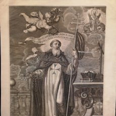 Arte: GRABADO SIGLO XVII - EL GLORIOSO PATRIARCA S. JUAN DE MATA - PETER PAUL BOUCHE AMBERES - 42 X 56.50. Lote 227187665