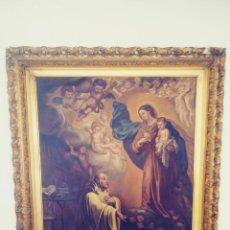 Arte: OLEO ANTIGUO RELIGIOSO MUY GRANDE. Lote 227200235