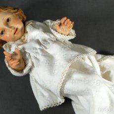 Arte: NIÑO JESÚS EN YESO PINTADO PRINCIPIOS SIGLO XX. Lote 227491891