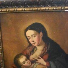 Arte: BONITA PINTURA DE LA VIRGEN DE LA LECHE SIGLO XVIII. Lote 227974230