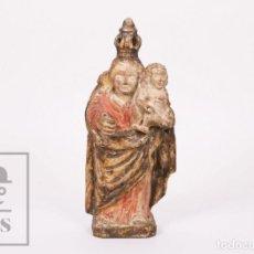Arte: ANTIGUA TALLA / ESCULTURA RELIGIOSA POLICROMADA - VIRGEN DE LA PERA - CATALUÑA, SIGLOS XVI-XVII. Lote 227996860