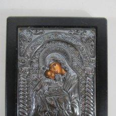Arte: ICONO - IMAGEN RELIGIOSA EN PLATA 950º - COPIA EXACTA DE ÉPOCA BIZANTINA. Lote 227998750