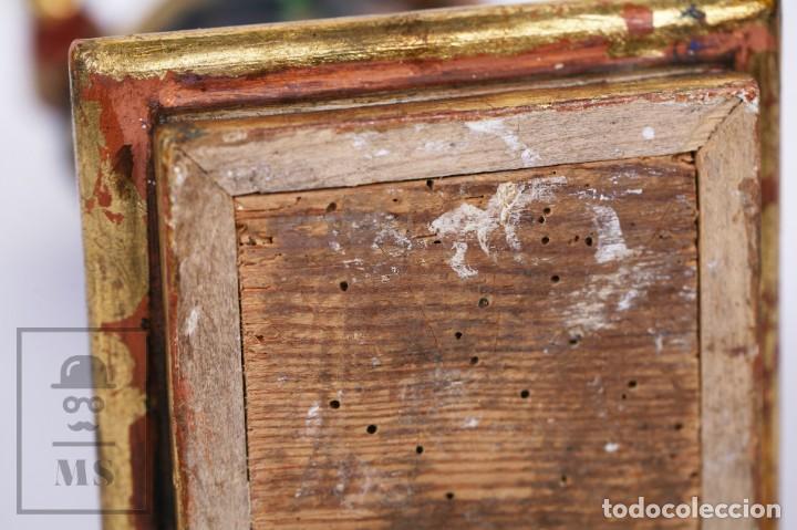 Arte: Antigua Talla / Escultura Religiosa Dorada y Policromada - Virgen María y Niño Jesús - Siglo XVIII - Foto 19 - 227998890