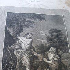 Arte: GRABADO LAMINA 1810 - LA APARICIÓN DE CRISTO ANTE MARIA. Lote 228120965