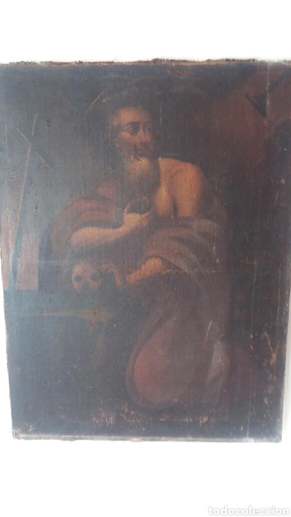 SAN JERÓNIMO ÓLEO SOBRE LIENZO DEL SIGLO XVII (Arte - Arte Religioso - Pintura Religiosa - Oleo)