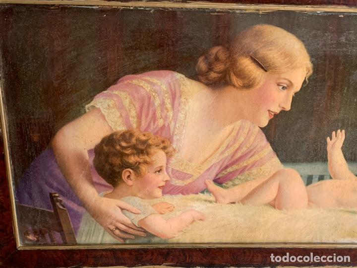 Arte: PRECIOSO CUADRO ( 88x48 cm ). LAMINA VIRGEN - Foto 2 - 228442565