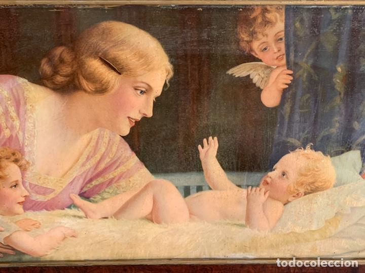 Arte: PRECIOSO CUADRO ( 88x48 cm ). LAMINA VIRGEN - Foto 3 - 228442565
