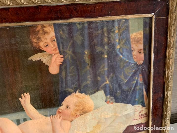 Arte: PRECIOSO CUADRO ( 88x48 cm ). LAMINA VIRGEN - Foto 4 - 228442565