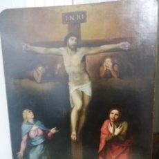 Art: CALVARIO ,TABLA , ROMA 1790?. Lote 228781660