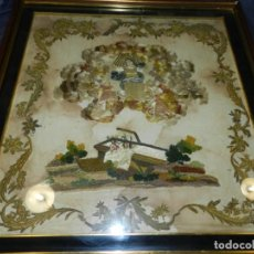 Arte: (M) ANTIGUO BORDADO S.XIX AL TERCER DIA RESUCITO - ENMARCADO 68X65 CM.. Lote 228912435