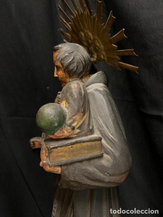 Arte: Excepcional talla de madera, SAN ANTONIO, 45cms de altura total, leer mas - Foto 8 - 229508690