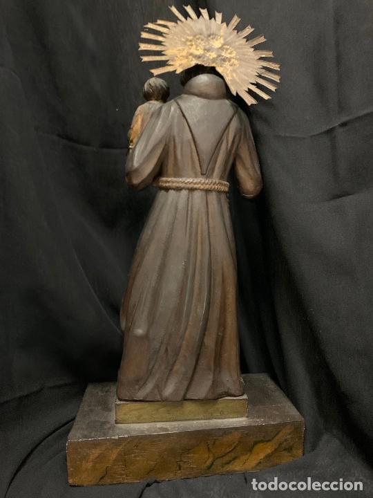 Arte: Excepcional talla de madera, SAN ANTONIO, 45cms de altura total, leer mas - Foto 9 - 229508690